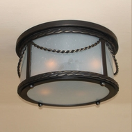 Lighting Innovations C11147 Outdoor 22.8  Wide x 10.8  Tall Flush Mount Ceiling Light Fixture