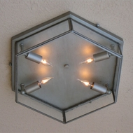 Lighting Innovations C2801-P Outdoor 10  Wide x 3.8  Tall Ceiling Light Fixture