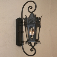 Lighting Innovations DB7001 Traditional Exterior 9  Wide x 29.5  Tall Wall Lighting