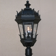 Lighting Innovations P5863 Traditional Outdoor 13 Wide x 26 Tall Pole Lighting Fixture