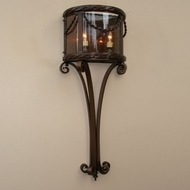 Lighting Innovations WB11123 Outdoor 15.8  Wide x 40.8  Tall Lamp Sconce