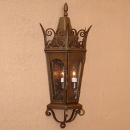 Lighting Innovations WB7072 Traditional Exterior 11.5  Wide x 25.4  Tall Wall Sconce Lighting