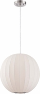 Lite Source 19824WHT Masumi Contemporary White Finish 15.5  Wide Hanging Lamp