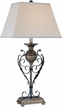 Lite Source C41035 Narcisco Dark Bronze & Pewter Finish 16.5  Wide Table Lighting