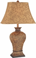 Lite Source C41042 Gavril Traditional Antique Burled Walnut Finish 32  Tall Lighting Table Lamp