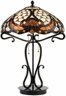 Lite Source C41069 Benard Tiffany Black Bronze Finish 17  Wide Table Lamp Lighting