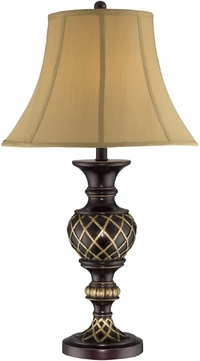 Lite Source C41261 Victor Traditional Dark Bronze & Antique Gold Finish 17 Wide Table Lighting