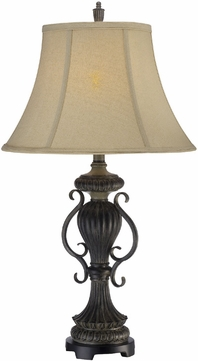 Lite Source C41271 Mikael Traditional Dark & Antique Bronze Finish 30.5  Tall Lighting Table Lamp