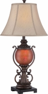 Lite Source C41330 Alden Dark Bronze Finish 17  Wide Table Lamp Lighting