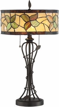 Lite Source C41386 Olivia Tiffany Dark Bronze Fluorescent Table Light