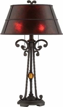 Lite Source C41388 Rossa Dark Bronze / Mica Fluorescent Lighting Table Lamp