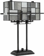 Lite Source C41397 Collins Tiffany Aged Gunmetal Table Light