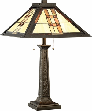 Lite Source C41398 Brayton Tiffany Dark Bronze Table Lighting