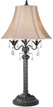 Lite Source C4352 Parker Traditional Antique Bronze Finish 16.5  Wide Table Lamp Lighting