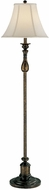 Lite Source C61052 Chole Traditional Antique Bronze & Gold Finish 58.5 Tall Floor Light
