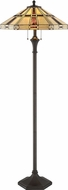 Lite Source C61394 Mircea Tiffany Dark Bronze Fluorescent Floor Lamp