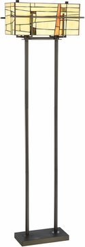 Lite Source C61396 Mansur Tiffany Dark Bronze Floor Lamp