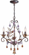 Lite Source C71143 Bellva Gold Bronze Finish 21  Tall Mini Chandelier Light