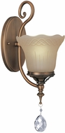 Lite Source C71201-W Darcy Traditional Brushed Gold Bronze Finish 7 Wide Wall Sconce