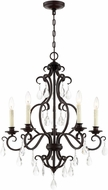 Lite Source C71377 Vilina English Bronze Mini Chandelier Light
