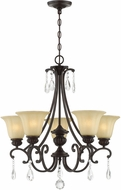 Lite Source C71378 Romaine Dark Bronze Chandelier Lighting