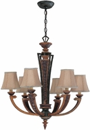 Lite Source C7659 Verbost Traditional Gold Bronze & Dark Bronze Finish 29  Tall Chandelier Lighting
