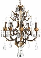 Lite Source C790 Stedim Dark Brick Finish 30.5  Tall Chandelier Lamp