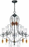 Lite Source C7947 Fiorenza Dark Bronze Finish 34  Tall Ceiling Chandelier
