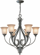 Lite Source C7989 Cambree Traditional Dark Bronze Finish 24.5  Wide Chandelier Lighting