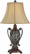 Lite Source CF41255 Kylemore Traditional Dark & Antique Bronze Finish 17.25  Wide Table Lighting