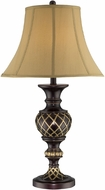Lite Source CF41261 Victor Traditional Dark Bronze & Antique Gold Finish 17  Wide Table Lamp Lighting