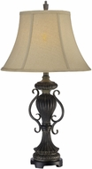 Lite Source CF41271 Mikael Traditional Dark & Antique Bronze Finish 30.5  Tall Table Top Lamp