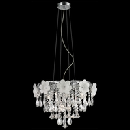 Lite Source EL-10113 Daisy II Chrome Finish 18  Wide Halogen Lighting Pendant