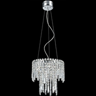 Lite Source EL-10127 Helanie Chrome Finish 84  Tall Halogen Hanging Pendant Light