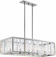 Lite Source EL-10175 Glennis Modern Brushed Nickel Kitchen Island Light