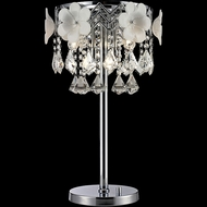 Lite Source EL-30113 Daisy II Chrome Finish 11  Wide Halogen Table Lighting
