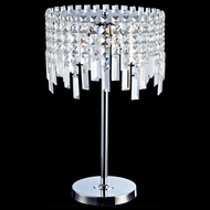 Lite Source EL-30127 Helanie Chrome Finish 20  Tall Halogen Lighting Table Lamp