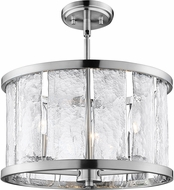 Lite Source EL-50174 Glennis Contemporary Brushed Nickel Ceiling Lighting