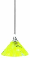 Lite Source LS-14101YLW Carlota Collection II Modern Polished Steel Halogen Pendant Light