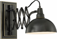 Lite Source LS-16280 Armstrong Modern Dark Bronze Swing Arm Wall Lamp