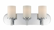 Lite Source LS-16313 Lina Contemporary Chrome 3-Light Lighting For Bathroom