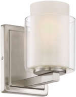 Lite Source LS-16321 Eliseo Contemporary Polished Steel Wall Sconce