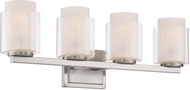 Lite Source LS-16324 Eliseo Modern Polished Steel 4-Light Bath Lighting