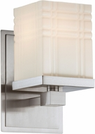 Lite Source LS-16341 Benicio Contemporary Polished Steel Wall Lamp