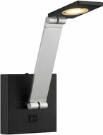 Lite Source LS-16482 Santino Contemporary Silver / Black Finish 9 Tall LED Wall Swing Arm Lamp