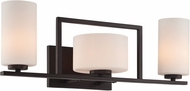 Lite Source LS-16525 Adalyn Modern Dark Bronze Halogen Vanity Light