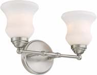 Lite Source LS-16692 Faina Brushed Nickel 2-Light Bathroom Lighting