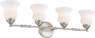 Lite Source LS-16694 Faina Brushed Nickel 4-Light Bath Lighting