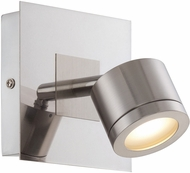 Lite Source LS-16726 Michi Contemporary Polished Steel LED Wall Lighting Sconce