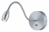 Lite Source LS-16803ALU Saskia Contemporary Aluminum Finish 15  Wide LED Wall Swing Arm Lamp